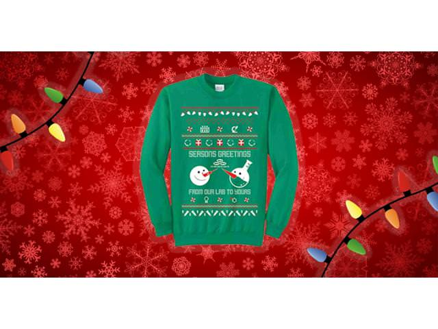 Get A Free Seasons Greeting Science Sweater!