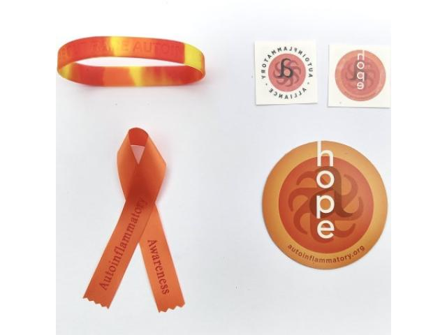 Free Ribbons, Car Magnet, Temp Tattoos + Wristband By Autoinflammatory Alliance!