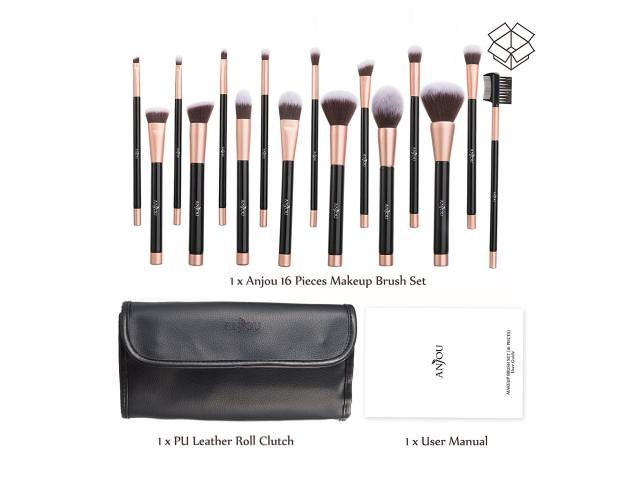 Get A Free Anjou Makeup Brush Set, 16pcs!