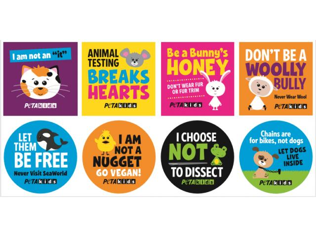 Free PETA Kids Stickers!