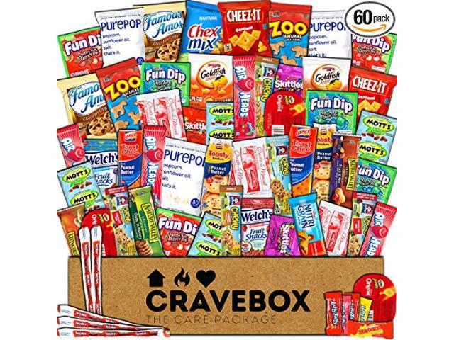 Get A Free CraveBox - Deluxe Care Package Snack Box (60 Count)!