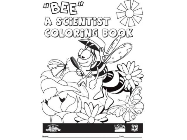 Get A Free Bee A Scientist Coloring Book 1-2!