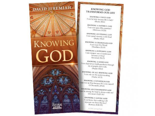 Get A Free Knowing God Bookmark!