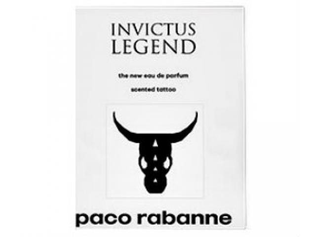 Free Paco Rabanne Invictus Legend Scented Temporary Tattoo!