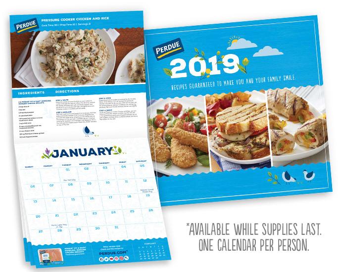 Get A Free 2019 Perdue Recipe Calendar!