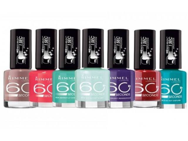 Get A Free Rimmel 60 Seconds Nail Polish!