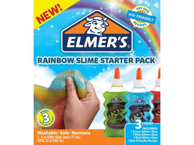 Get A Free Rainbow Glitter Slime Starter Pack!