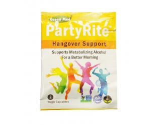Free PartyRite Hangover Support From Greenmed!